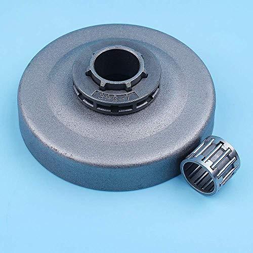 Kit de llanta de rueda dentada de tambor de embrague recto de .325'-7T compatible con motosierra Jonsered 2141, 2145, 2149, 2150, 2151, 2152, 2159, 2245, 2250