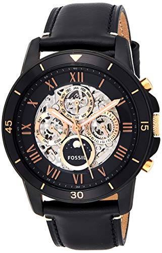 Fossil Men's ME3138 Grant Sport Automatic Black Leather Watch