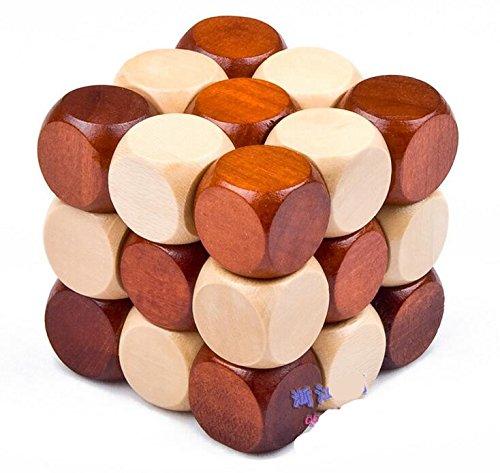 PUNK FAMILY Desbloqueo casual de madera clásico de libélulas Rubik cubo juguetes