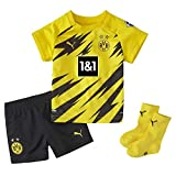 PUMA Unisex Bvb Home Baby-kit W.sponsor W.hanger New T shirt, Cyber Yellow-puma Black, 86 EU