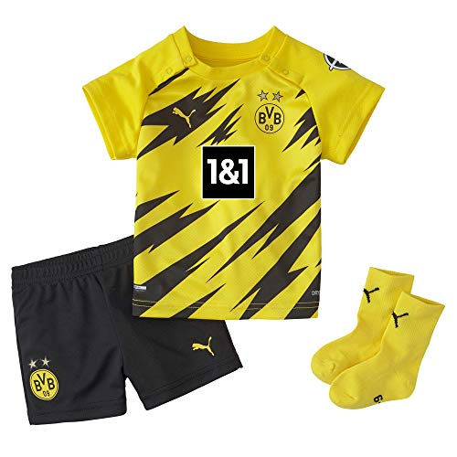PUMA BVB Home Baby-Kit w.Sponsor w.Hanger New T-Shirt, Cyber Yellow Black, 86