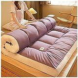 YRRA Colchón de futón, Plegable y Grueso colchón Tradicional japonés, Acolchado de Tatami Colchón Acolchado y Mullido, Piso de Tatami portátil, para Dormir Viaje,Púrpura,150x200cm
