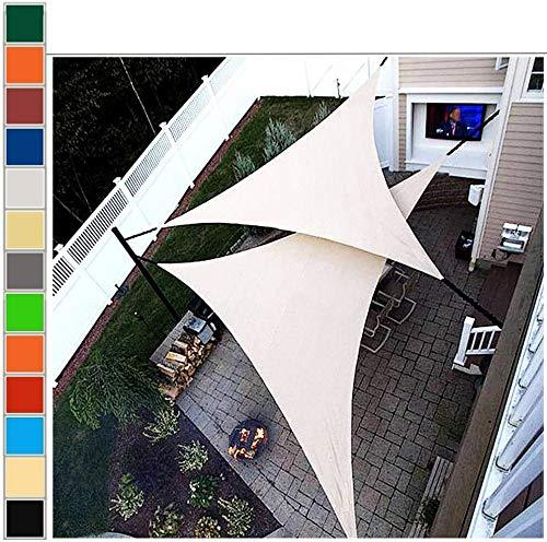 SCRT Toldo Sombras de Sun for Patios, Toldo for Exteriores, Resistente al Agua, UV, Resistente a la Rotura, envejecimiento, Color de la Arena, Sombra triángulo, por Plataforma, Patio, Pérgolas cubie