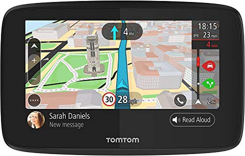 TomTom Go 520 5 Inch GPS Navigation Device with Real Time Traffic, World Maps, Wi-Fi-Connectivity, Smartphone Messaging, Voice Control and Hands-free Calling