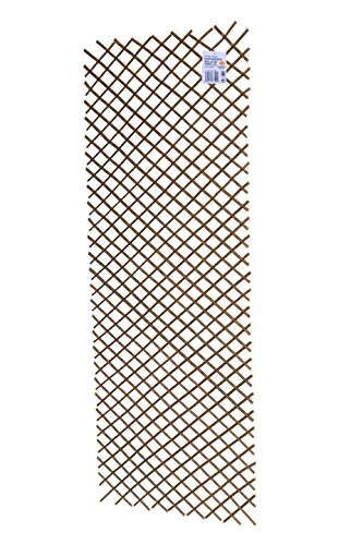 Ruddings Wood Outdoor Expanding Willow Trellis 180cm high x 60cm wide Natural Garden Patio Wall Expandable Trellis Panel