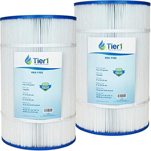 Tier1 Replacement for Pool filter R173214, PAP75-4, Filbur FC-0685, Unicel C-9407 Pool Filter Cartridge (2-Pack)