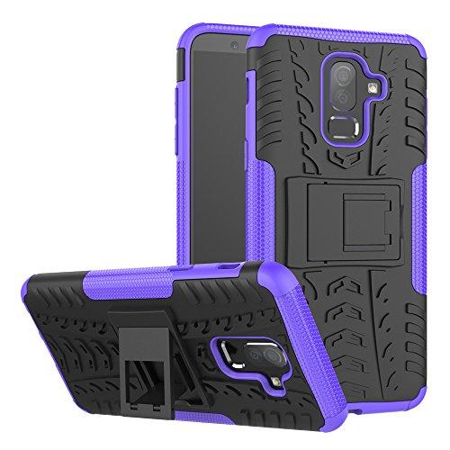 Capa para Galaxy J8 2018, Dooge de camada dupla fina de TPU + PC bumper resistente de alto impacto durável antiderrapante absorção de choque capa protetora para Samsung Galaxy J8 2018 6 polegadas