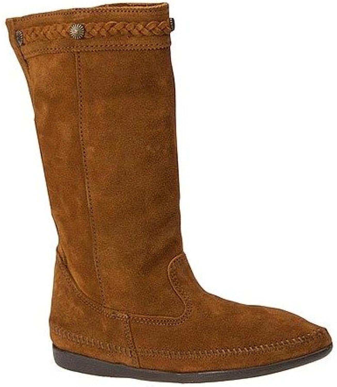 Minnetonka Women's Calf-High Suede Boot Brown