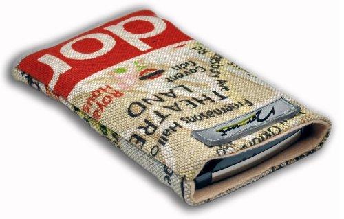 Norrun Handytasche / Handyhülle # Modell Lindis # ersetzt die Handy-Tasche von Hersteller / Modell TCM (Tchibo) Kompakt-Handy 2 # maßgeschneidert # mit einseitig eingenähtem Strahlenschutz gegen Elektro-Smog # Mikrofasereinlage # Made in Germany