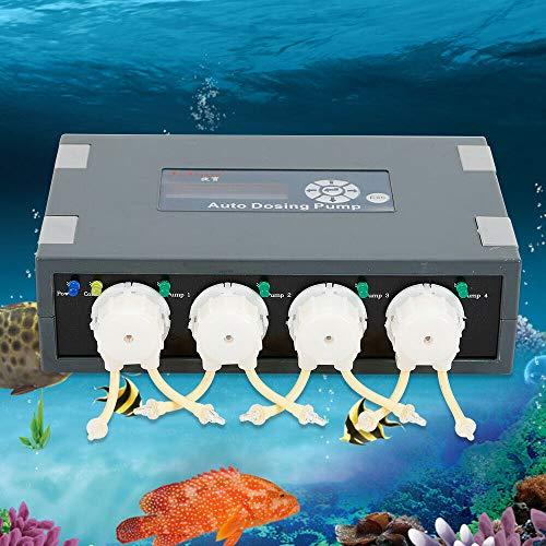 OUKANING Auto Dosierpumpe 4 Kanal Dosiercontroller Aquarium DP-4 Pump Auto Dosieranlage