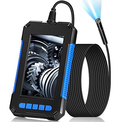 Elikliv2021年最新版 検査カメラ 内視鏡 工業用 32GBカード付き 200万画素 4.3インチIPS 1080P画質 5.5MM極細レンズ USB充電式2600mAh 6個LED ライト付き 防水 ボアスコープ スネークカメラ スコープカメラ 5M半剛性ケーブル 水中観察 家庭掃除 車 空調 排水口 設備の点検用品