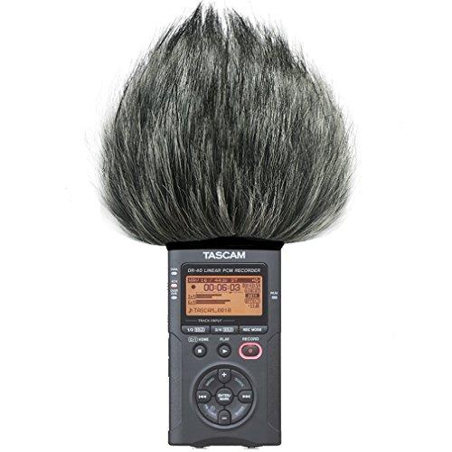First2savvv TM-DR-40-B01 Microfono Parabrezza Copertura Antivento Shell Cuffia Antivento in Pelliccia Sintetica per Microfoni a Fucile per Tascam DR-40. DR40