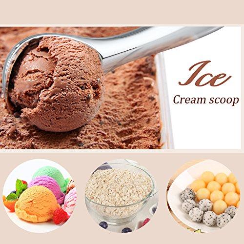 Love-KANKEIアイスクリームスクープアイスクリームスプーンアイスクリームディッシャー耐久亜鉛合金製ブラック