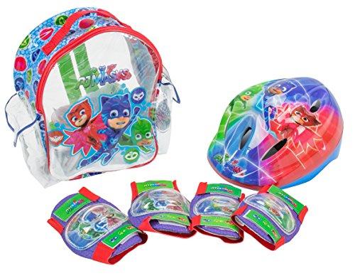 PJ Masks Set mit Rucksack, Helm und Protektoren (Amijoc Toys 2938)