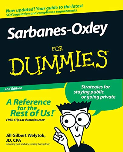 Download Sarbanes-Oxley For Dummies 0470223138