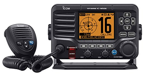 ICOM VHF M506 fest integrierte DSC-AIS und Schwarz