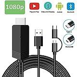 MHL zu HDMI Kabel 6.6FT, Weton 2 in 1 USB Typ C/Micro USB auf HDMI Kabel 1080P HDTV Telefon zu HDMI Adapter für Android Smartphones Samsung LG Huawei,Digitaler AV Adapter zu TV Monitor Projektor