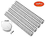 Multi-Use Fridge Magnets, DIY Small Round Refrigerator Magnets for Science, Crafts, Office, Whiteboard – 5MM x1MM100 Pcs