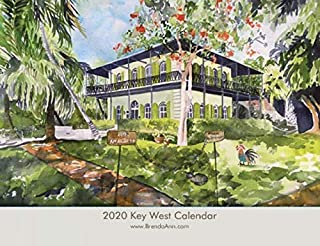2020 Key West Wall Calendar - Hemingway House, Blue Heaven, Sloppy Joe's, etc.Florida Keys - Key West Watercolor Wall Calendar by Brenda Ann