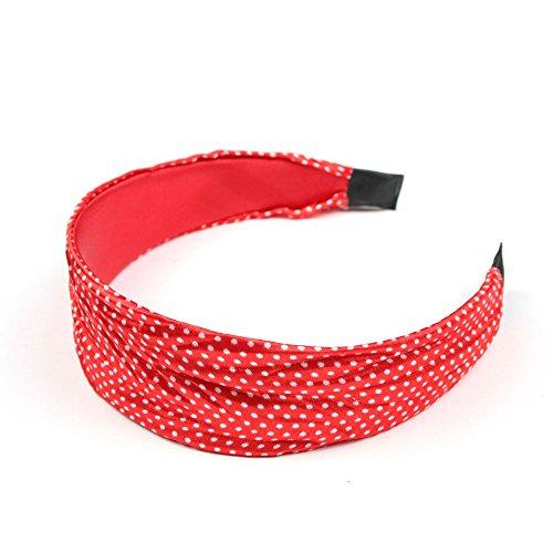 Stoff-Haarreif mit vielen kleinen Punkten (rot/weiß) 020-00016