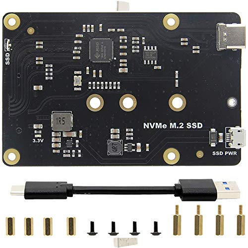 Buy Storage Expansion Board,Home Office Storage Expansion Board Good storage solution for Raspberry Pi M.2 NVMe SSD Shield.