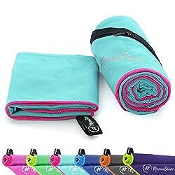 NirvanaShape ® Microfiber Towels | absorbent, lightweight, quick-drying | Bath towels, travel towels, sports towels | Ideal for travel, fitness, yoga, sauna