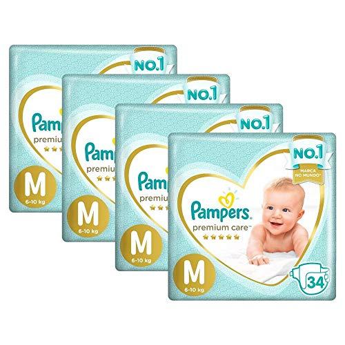 Fralda Pampers Premium Care Mega Tamanho M 136 Unidades