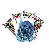 London Eye Ferris Wheel Inglaterra Britain UK Poker Juego de cartas mágicas