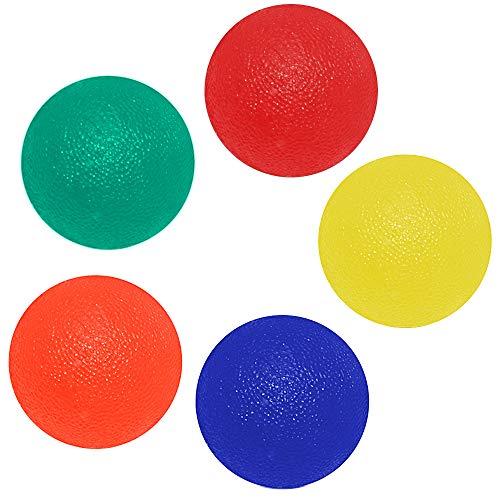 ZoneYan Silikon Griffball, Hand Übung Ball, Hand Exerciser Ball, Hand Fitness Ball, Finger Training Ball, Hand Therapie Rehabilitation Bälle, Hand Stärkungs Ball, 5 Stücke