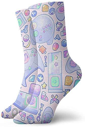 ksale Jugar juegos Level Up Novelty Crew Socks Athletic Socks Medias 30CM