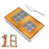 JOJOR Moldes Galletas Números Hornear Pastel Decorar, Molde para Hacer Tartas Cake Pan con Alfabeto Letra Número,Moldes Pasteles para Cumpleaños, Aniversario de Bodas