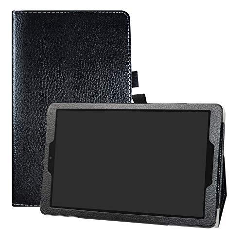 LFDZ Alcatel A3 WiFi Funda, Soporte Cuero con Slim PU Funda Caso Case para 10.0' Alcatel A3 WiFi(Not fit Alcatel A3 4G Version) Tablet,Negro