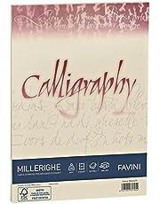 Favini Calligraphy A69Q324 - Papel pergamino (A4, rayado, 50 unidades)