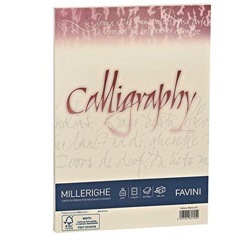 Favini A69Q324 Calligraphy Millerighe non- Rigato