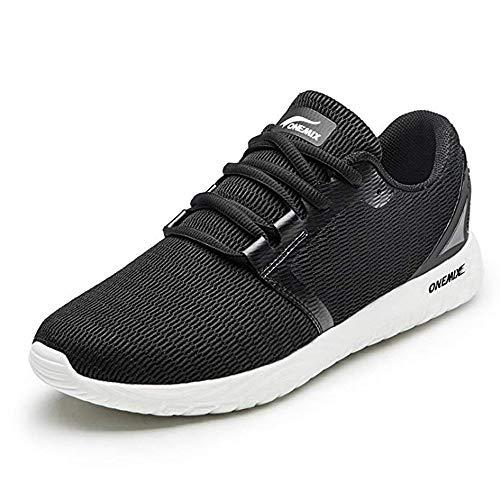 ONEMIX Herren Laufschuhe Atmungsaktiv Sportschuhe Sneaker Gym Freizeit Outdoor Turnschuhe 1309 Black 40