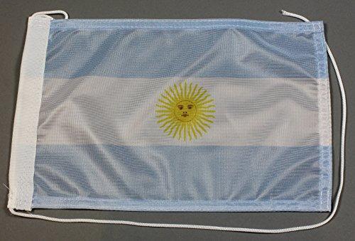 Buddel-Bini Bootsflagge Argentinien 20 x 30 cm in Profiqualität Flagge Motorradflagge
