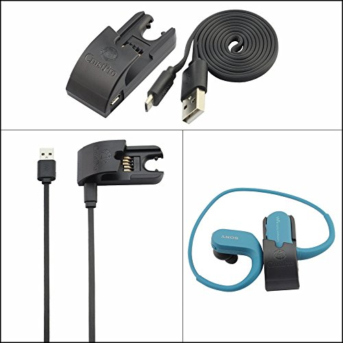 Sony NW-WS413 Ladegerät, Ersatz USB Charge Ladekabel Lade Kabel Draht USB Charging Clip Charger for Sony NW-WS414 / NW-WS623 / NW-WS625 Holder Desktop Station (Ladegerät)