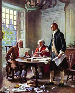 The Writing of the Declaration of Independence, PREMIUM PRINT, J.L.G Ferris 28