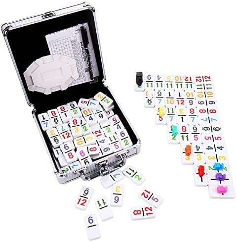 KAILE Mexican Train Dominoes with New product Color Numer Double Fashionable 12 Numbers