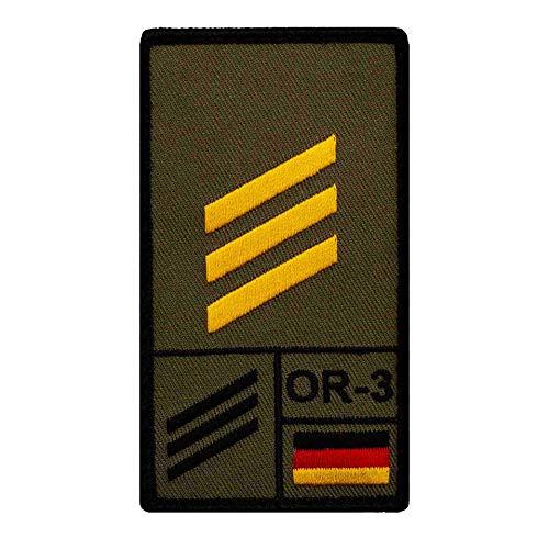 Café Viereck ® Hauptgefreiter Marine Bundeswehr Rank Patch mit Dienstgrad - Gestickt mit Klett – 9,8 cm x 5,6 cm
