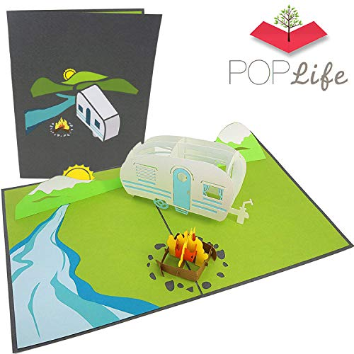PopLife Cards Camping-Ausflug Pop-up-Karte - alle Gelegenheiten