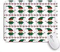 NIESIKKLAマウスパッド エルフクリスマスキャンディーケーンレッドベリー ゲーミング オフィス最適 高級感 おしゃれ 防水 耐久性が良い 滑り止めゴム底 ゲーミングなど適用 用ノートブックコンピュータマウスマット