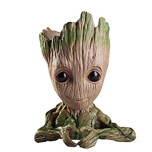 thematys® Baby Groot Maceta - Figura de accion para Plantas y boligrafos de la pelicula clasica - Perfecto como Regalo - Soy Groot (D)