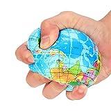Onsinic 1pc Alivio de tensión Mapa del Mundo de la Espuma de la Bola Atlas GlobeBall Planeta Tierra de Bola de Juguete antiestrés