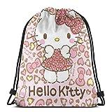 Bolso clásico con cordón - Lindo leopardo gatito gimnasio mochila bolsas de hombro bolsa de almacenamiento deportivo para hombre mujer