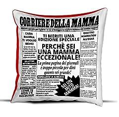 Idea Regalo - quickgadget Idea Arredo Casa Regalo Cuscino Festa della Mamma, Compleanno, Corriere della Mamma