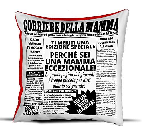 quickgadget Idea Arredo Casa Regalo Cuscino Festa della Mamma, Compleanno, Corriere della Mamma