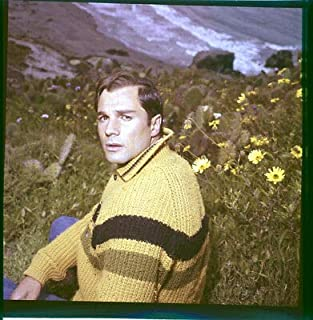 George MAHARIS On Beach Cliff Top 1960's Photo Original 2 1/4 Transparency