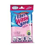アドバンスドア 使い捨て洗剤付き スポンジタオル 携帯用 5枚 イージーウォッシュセーフ, ピンク サイズ:約180x120x25mm