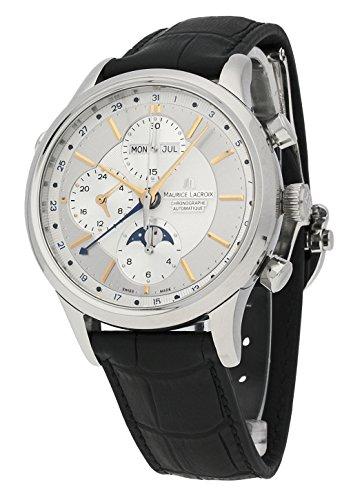 Maurice Lacroix Herren-Armbanduhr Les Classiques Chronograph Phases de Lune Datum Wochentag Monat Mondphase Analog Automatik LC6078-SS001-131-1